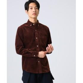 ドレステリア 細コーデュロイボタンダウンシャツ メンズ タバコブラウン(055) 92(L) 【DRESSTERIOR】
