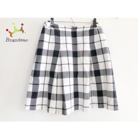 ヨークランド YORKLAND スカート サイズ11 M レディース 白×黒 チェック柄   スペシャル特価 20191015