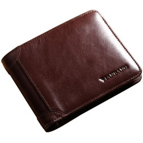 MANBANG 財布 軽量 二つ折り薄型 ウォレット メンズ 牛本革 強靭 ギフト 札入れ 耐摩擦 紳士 大容量 耐久性 機能性 ビジネス用 実用性 便利性 簡約ファッション