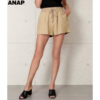 【セール開催中】ANAP(アナップ)麻混リラックスショートパンツ