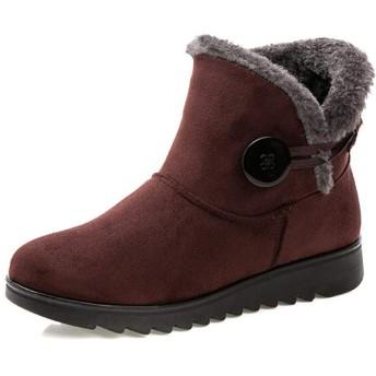 [ツネユウシューズ] ムートンブーツ レディース 厚底 ファー ショート ブラック 大きいサイズ 裏起毛 あったか ふわふわ もこもこ ショートブーツ トレンド 婦人靴 スエード 高級感 秋 冬 普段使い かわいい ボア カジュアル 黒 ブラウン