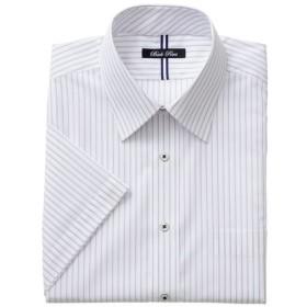 【メンズ】 形態安定デザインYシャツ(半袖) - セシール ■カラー:パープル系 ■サイズ:4L,M,3L,LL,5L,L