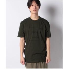 SISLEY プリント半袖Tシャツ・カットソー(カーキ)