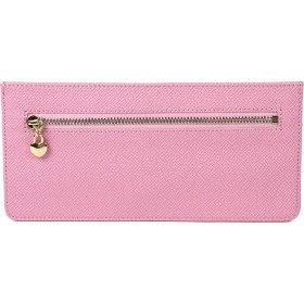 Aoakua 極薄 長財布 厚みなんと5mmの 薄型財布 スリムウォレット 全6色 (ピンク)