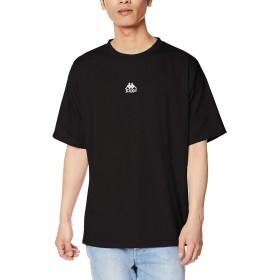 [別注] Kappa カッパ ワンポイント 刺繍 T シャツ 半袖 L ブラック メンズ