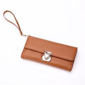 財布、女性のハンドバッグ多機能大容量ロングジップウォレット (Color : 1)