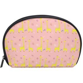 vawa 化粧ポーチ ジラフ 親子 大容量 かわいい メイクポーチ 化粧バッグ 機能的 仕切り 防水 化粧品収納 小物入れ 洗面 旅行用