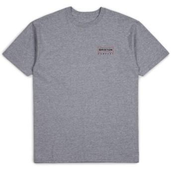 ブリクストン BRIXTON Tシャツ メンズ 半袖 06865 XL,ヘザーグレー [並行輸入品]
