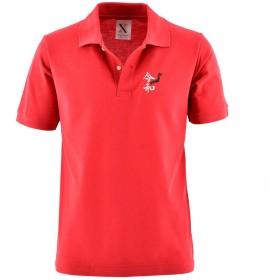 [X-CLOTHES] 令和 グッズ れいわ レイワ Reiwa 新元号 改元 刺繍 服 半袖 ポロシャツ メンズ ワンポイント ロゴ 吸汗速乾 令和-1 赤
