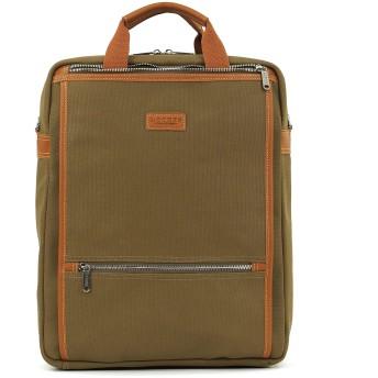 LOTUFF バックパック ワックスファブリックレザーデイパックメンズレディース LO-1913 男女兼用 ロトプ WaxFabric Leather Casual Backpack Unisex (KHAKI) [並行輸入品]
