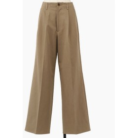 <AURALEE/オーラリー> WASHED FINX CHINO WIDE TUCK PANTS(A9AP02CN) GRAY BE 【三越・伊勢丹/公式】