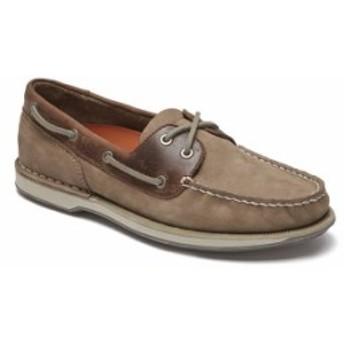 ロックポート メンズ スリッポン・ローファー シューズ Men's Perth Casual Boat Shoes Taupe NBK/Beeswax Le