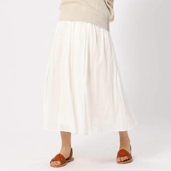 (コムサ イズム) COMME CA ISM コットン ギャザースカート 12-50FL10-109 L アイボリー