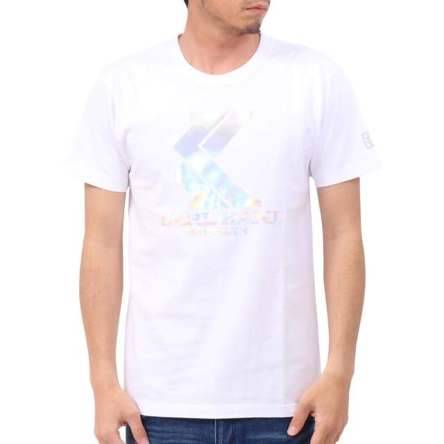 [カールカナイ] Karl Kani Tシャツ JAPAN加工 オーロラ ホログラム ロゴ TEE 192K1025 ホワイト L
