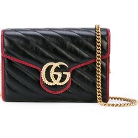 Gucci GGマーモント ショルダーバッグ - ブラック