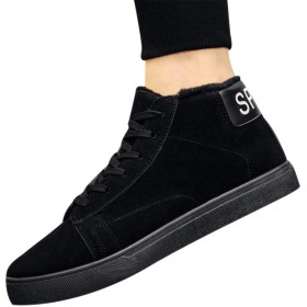 [Kindoyo] メンズ 短靴 スニーカー - 快適な ファッション スニーカー 靴 男性用 ウオーキングシューズ 防寒靴, ブラック, CN41(足長:255mm)
