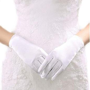 HeFuo 手袋 シルク手袋 おやすみ 手触りが良い 紫外線 白 手袋 手触りが良い 花嫁用品