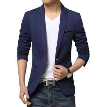 TOPSKY スーツジャケットメンズカジュアル テーラードジャケット細身 トップス ビジネス スーツジャケット