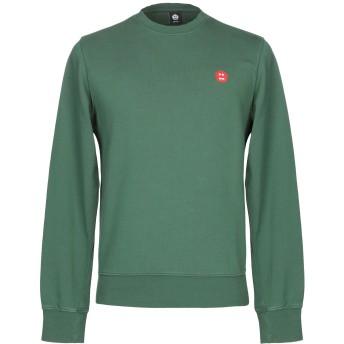 《期間限定セール開催中!》ASPESI メンズ スウェットシャツ グリーン S コットン 100%