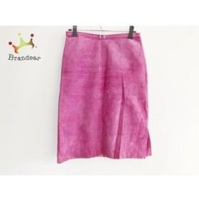 ソニアリキエル SONIARYKIEL スカート サイズ38 M レディース 美品 ピンク スエード   スペシャル特価 20191026