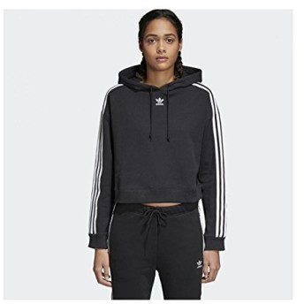 (アディダス オリジナルス) adidas Originals CY4766 WOMEN CROPPED HOODIE クロップドフーディー BLACK (BLACK, L)