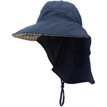 日焼け防止帽子 UVカット 紫外線対策用ハット ガーデニング 帽子 ネックカバー つば広 顔 首筋カバー 日よけカバー サイズ調整可 ガーデニング 農作業 ハイキング アウトドア 男女兼用