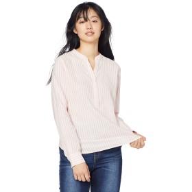 [ジョルダーノ] コットンリネンバンドカラーシャツ M 柄2