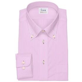 ワイシャツ 軽井沢シャツ [A10KZB242]ボタンダウン 純綿 マイター ピンク らくらくオーダー受注生産商品