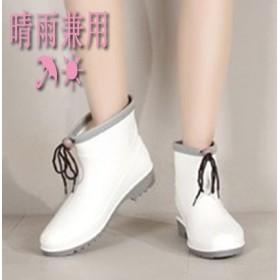 [55555SHOP] 韓国ファッション 晴雨兼用◎ キュート ゼリーレインブーツ ウォーターシューズ 滑り止めウォーターブーツ 防水性の防水ゴムシューズ