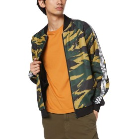 [ニューバランス] ジャケット/ベスト NBT.C. ウォームアップ リニアライン トラックジャケット メンズ カモ 日本 M (日本サイズM相当)