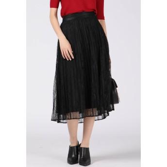 VICKY プリーツレーススカート その他 スカート,ブラック