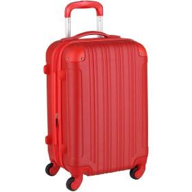 スーツケース キャリーケース キャリーバッグ ■安心1年保証■ S サイズ キャリーバック ファスナー 2日 3日 4日 5日 ハードキャリー ジッパー 小型 TSAロック 拡張 かわいい 全サイズ 有り 5082-55 レッド