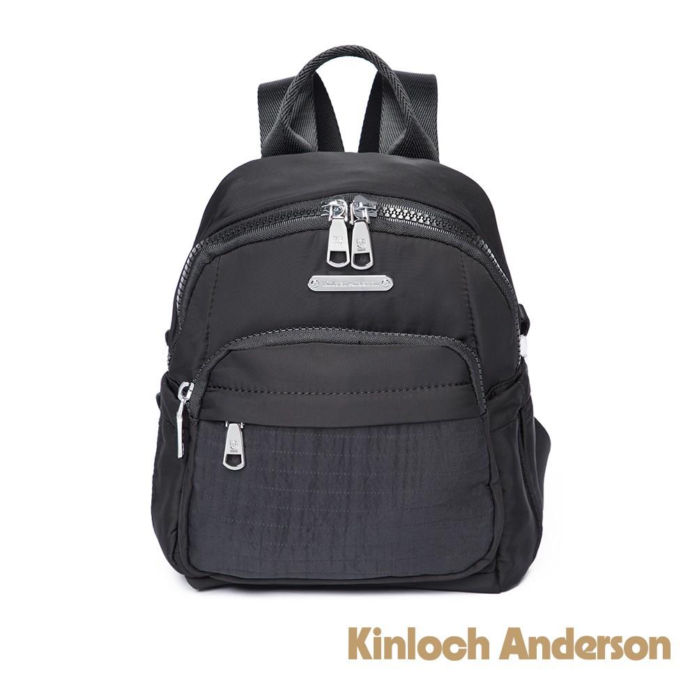 金安德森 Sussex 線性壓紋2Way肩背/後背包-黑色(KA190102BKF)