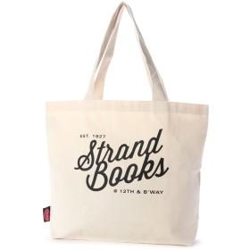 ラキュート LA CUTE 【STRAND BOOK STORE】Natural 12th and Broadwayトートバッグ (WHITE)