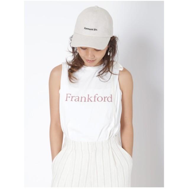 Ungrid Frankfordプリントタンクトップ オフホワイト