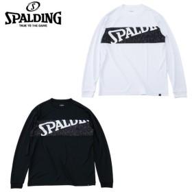 スポルディング SPALDING バスケットボール 長袖シャツ メンズ レディース L/S T-SHIRT - LOGO STICK OUT L/S Tシャツ - ロゴスティックアウト SMT191100