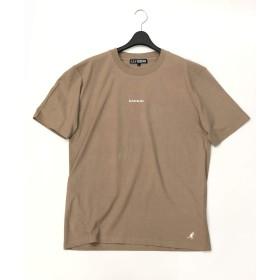 (エーエスエム) A.S.M メンズ Tシャツ WEB限定 A.S.M × KANGOL コラボ 限定 オリジナル 別注 KANGOL ミニロゴ 刺繍 クルーネック 半袖 Tシャツ 02-66-9813 50(L) ベージュ