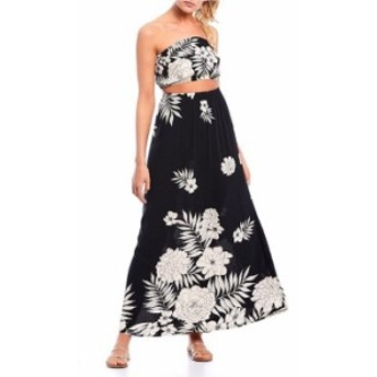 ビラボン レディース ワンピース トップス Slice N Dice Tropical Floral Print Maxi Dress Black/White