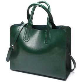 DOODOO レディース ショルダーバッグ ハンド ミニ ポシェット 肩掛け 斜めかけ トート Shoulder Hand Bag for Women PU レザー グリーン