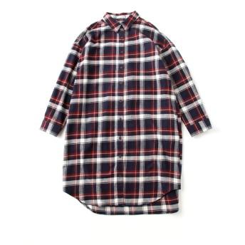 (ハニーズ シネマクラブ)Honeys CINEMA CLUB チェックシャツワンピース 673051812853 コン×アイボリー L