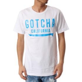 (ガッチャ) GOTCHA Tシャツ 蛍光 ロゴ TEE [ JAPAN加工 ] 182G1010Q ブルー Lサイズ