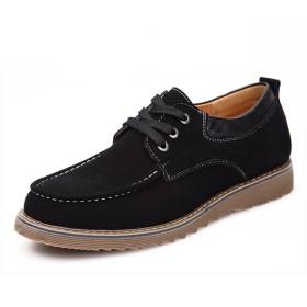 レースアップシューズ メンズ 靴 カジュアルシューズ ビジネスシューズ 紳士靴 コンフォート 滑り止め加工 屈曲性抜群 疲れにくい 通勤 四季 黒 25.5CM