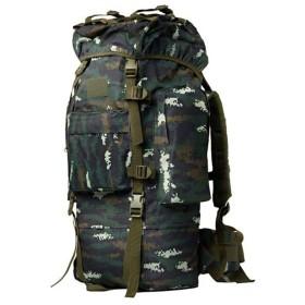 バックパック 旅行超能力旅行戦術的なリュックサック迷彩登山バッグショルダー男性と女性、ジャングル迷彩A、100 L