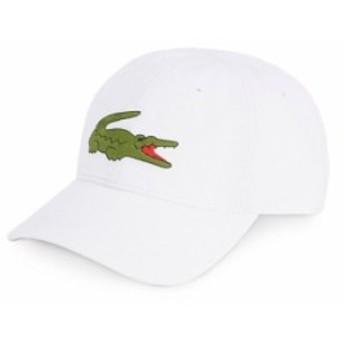 ラコステ メンズ 帽子 アクセサリー Big Croc Gabardine Cap White