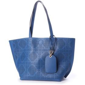フィラノ FIRANO パスケース付きパンチングデザイントートバッグ (BLUE)