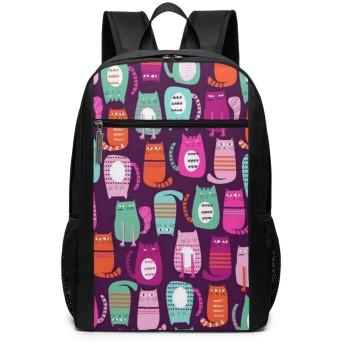 ShareBy リュック ビジネスリュック バックパック リュックサック 猫写真の磁石 丈夫 17インチ 多機能 大容量 撥水加工 人気 学生 鞄 メンズ レディース 通勤 通学 出張 デイパック マザーパック 2019最新版