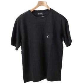 [カンゴール] KANGOL Tシャツ ワンポイント 無地 おしゃれ 半袖 きれいめ ブラック Mサイズ