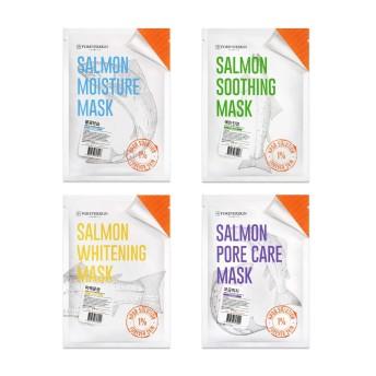 FOREVERSKIN サーモンマスクパック 韓国 シートマスク 高品質な 韓国コスメ 韓国パック リジュランの入った フェイスマスク フェイスパック (おためしセット(各種1枚計4枚))