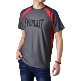 (エバーラスト) EVERLAST Tシャツ メンズ 半袖 吸水速乾 プリントt スポーツ トレーニング カジュアル / C4R / M A・グレー・92103