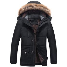 TUONI メンズ ダウンジャケット|中綿ジャケット|防寒着 防風 アウター|秋冬服|中綿ジャケット|コットンコート|ロングプラスベルベットパッド入り